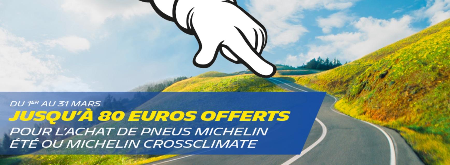 Promotion exceptionnelle sur les pneus Michelin !