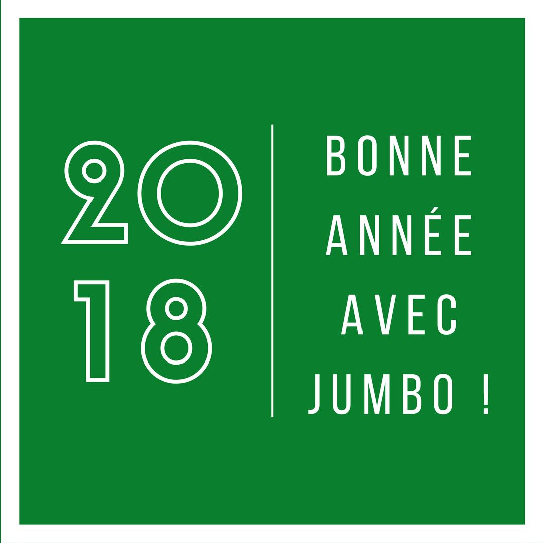 Jumbo Pneus vous souhaite une excellente année 2018 !