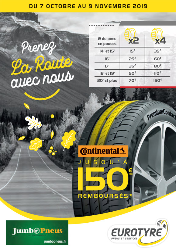 promotion eurotyre pneu continental