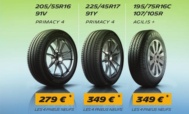 Promo Jumbo exclusive sur les pneus neufs Michelin !