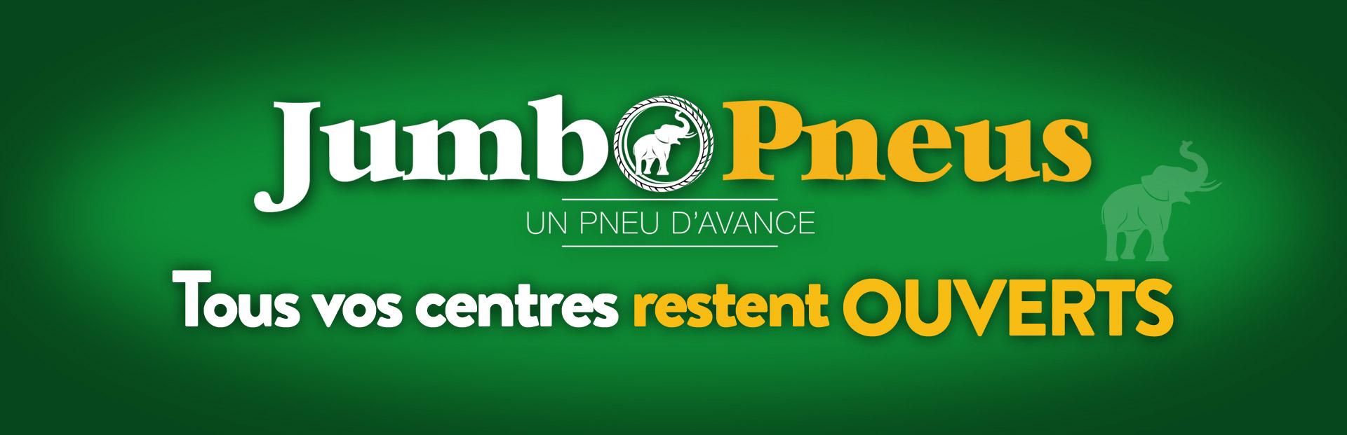 Informations COVID 19 - Novembre 2020 - LES CENTRES JUMBO PNEUS RESTENT OUVERTS!