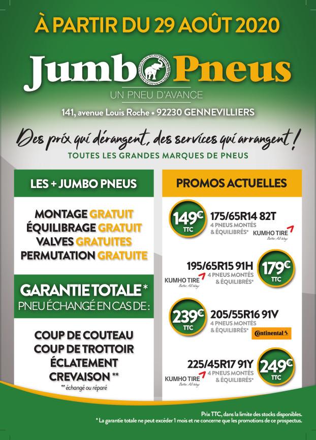 Réouverture de votre centre Jumbo Pneus de Gennevilliers en septembre !
