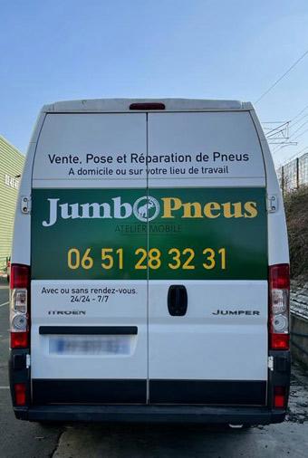 Jumbo Pneus SE DÉPLACE CHEZ VOUS ! (Domicile, travail, dépannage…)