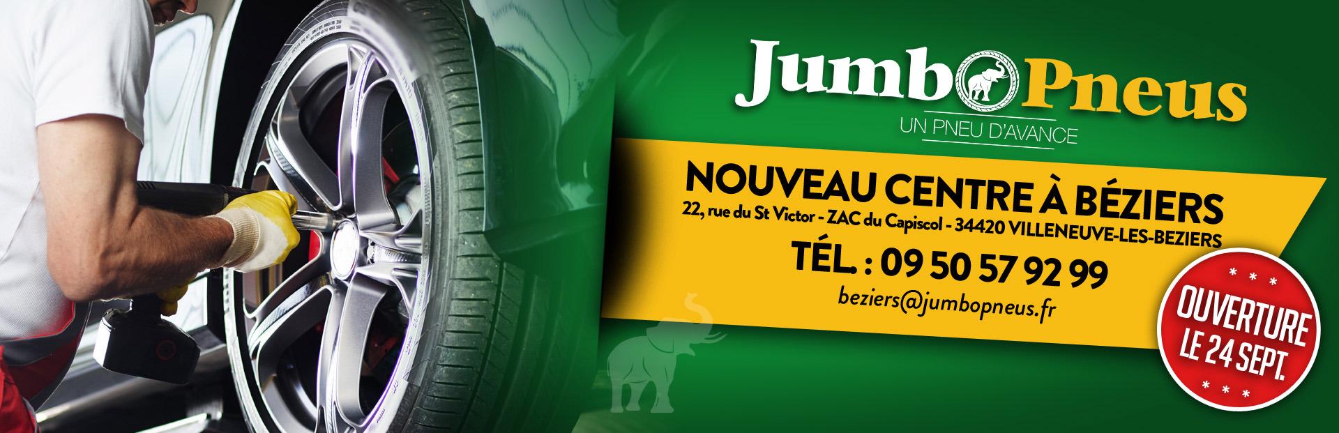 Ouverture d'un nouveau centre Jumbo Pneus à Béziers (34)